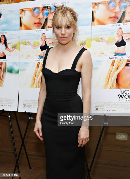 Actress Sienna Miller attends the 'Just Like A Woman' Special New York Screening at Crosby Street Hotel on June 5 2013 in New York City