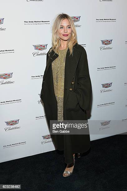 """Actress Sienna Miller attends the """"Letters To Andy Warhol"""" Exhibition Opening at Cadillac House on November 14, 2016 in New York City."""