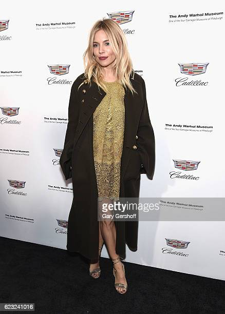 Actress Sienna Miller attends the Letters To Andy Warhol exhibition opening at Cadillac House on November 14 2016 in New York City
