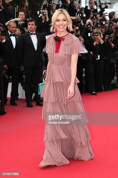 Actress Sienna Miller attends the 'Macbeth' Premiere during the 68th annual Cannes Film Festival on May 23 2015 in Cannes France