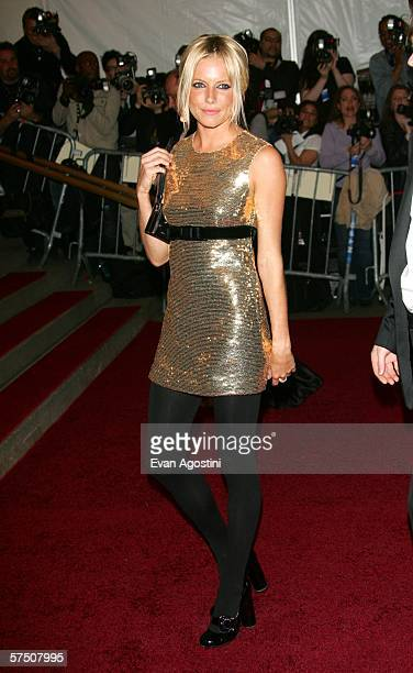 Actress Sienna Miller attends the Metropolitan Museum of Art Costume Institute Benefit Gala Anglomania at the Metropolitan Museum of Art May 1 2006...