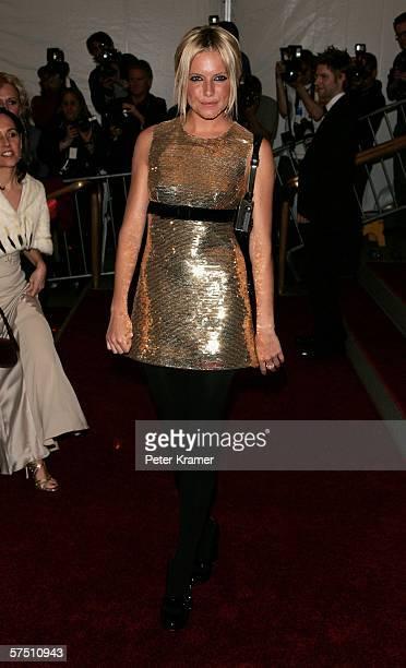 Actress Sienna Miller attends the Metropolitan Museum of Art Costume Institute Benefit Gala Anglomania at the Metropolitan Museum of Art May 1 2006...