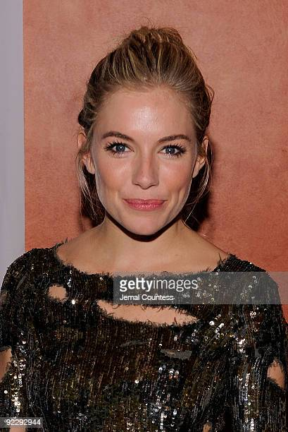 Actress Sienna Miller attends the opening night party for ''After Miss Julie'' on Broadway at the Roundabout Theatre Company's American Airlines...