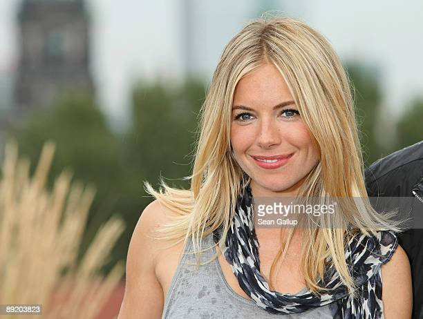 Actress Sienna Miller attends the photocall for 'GI Joe The Rise Of Cobra' on the roof of the Hotel de Rome on July 23 2009 in Berlin Germany