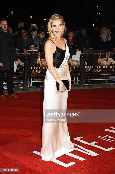 Actress Sienna Miller attends the premiere of Live By Night at BFI Southbank on January 11 2017 in London England