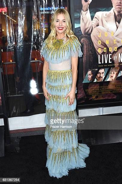 Actress Sienna Miller attends the premiere of Warner Bros Pictures' 'Live By Night' at TCL Chinese Theatre on January 9 2017 in Hollywood California