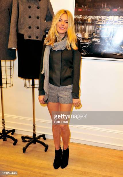 Actress Sienna Miller attends the Rag Bone Soho store opening on October 19 2009 in New York City
