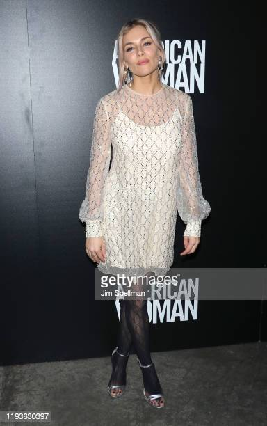 """Actress Sienna Miller attends the special screening of American Woman"""" hosted by Anna Wintour with Gucci and The Cinema Society at Metrograph on..."""