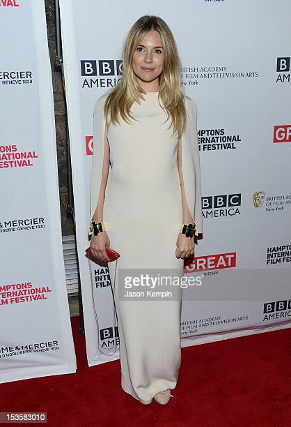 Actress Sienna Miller attends the The Girl screening during the 20th Hamptons International Film Festival at United Artists Regal Cinema on October 6...