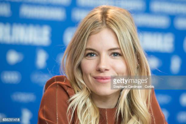 Actress Sienna Miller attends the 'The Lost City of Z' press conference during the 67th Berlinale International Film Festival Berlin at Grand Hyatt...