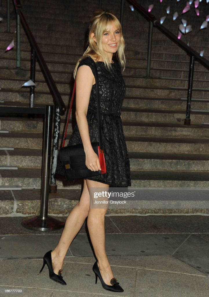 Actress Sienna Miller attends the Vanity Fair Party 2013 Tribeca Film Festival Opening Night Party held at the New York State Supreme Courthouse on April 16, 2013 in New York City.