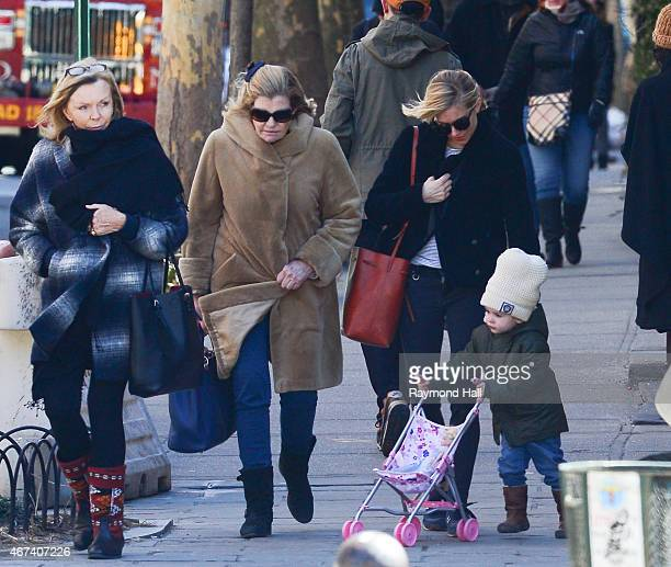 Actress Sienna Miller daughter Marlowe Sturridge her mother Josephine Miller are seen in walking in Soho on March 23 2015 in New York City