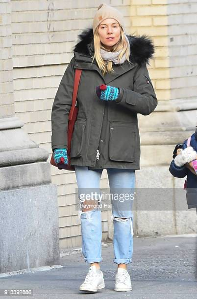 Actress Sienna Miller is seen walking in Soho on February 2 2018 in New York City