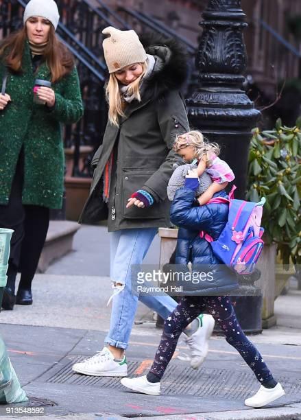 Actress Sienna Miller is seen walking is seen walking in Soho on February 2 2018 in New York City