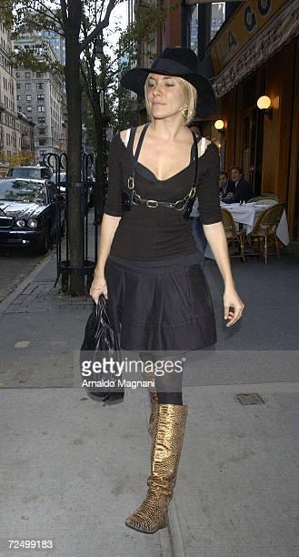 Actress Sienna Miller leaves La Goulue restaurant November 10 2006 in New York City