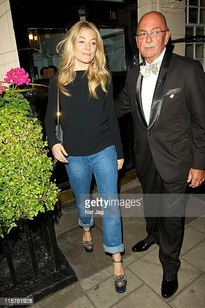 Actress Sienna Miller leaving the Royal Haymarket Theatre on June 9 2011 in London England