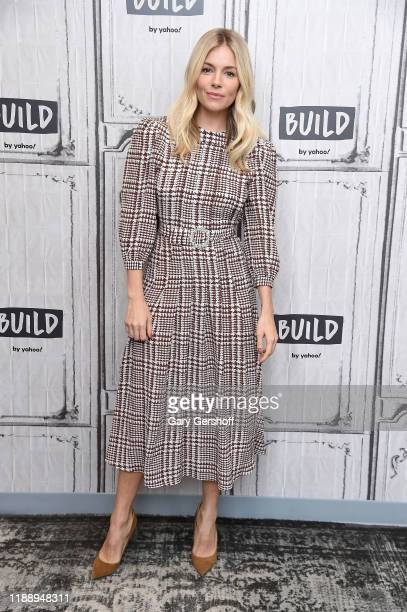"""Actress Sienna Miller visits the Build Series to discuss the film """"21 Bridges"""" at Build Studio on November 20, 2019 in New York City."""