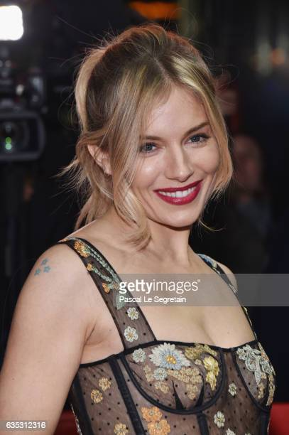 Actress Sienna Miller wearing Dior attends the 'The Lost City of Z' premiere during the 67th Berlinale International Film Festival Berlin at Zoo...