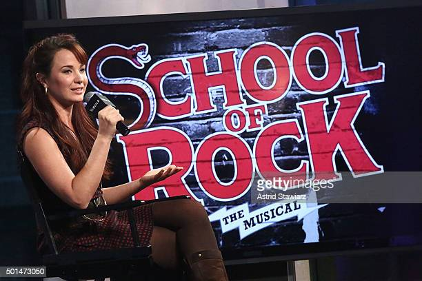 Actress Sierra Boggess attends AOL Build Presents Sierra Boggess School of Rock at AOL Studios on December 15 2015 in New York City