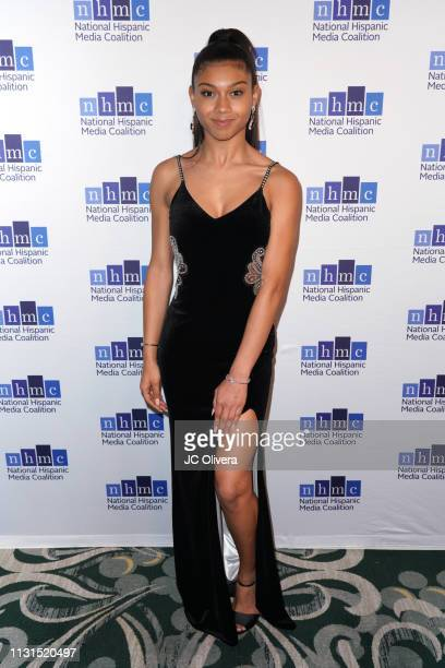 Actress Sierra Capri attends the 22nd Annual National Hispanic Media Coalition Impact Awards Gala at Regent Beverly Wilshire Hotel on February 22...