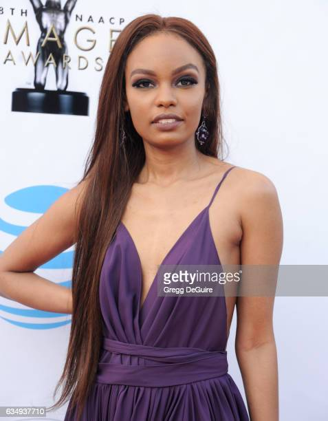Actress Sierra McClain arrives at the 48th NAACP Image Awards at Pasadena Civic Auditorium on February 11 2017 in Pasadena California