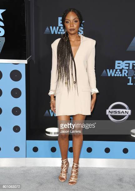 Actress Sierra McClain attends the 2017 BET Awards at Microsoft Theater on June 25 2017 in Los Angeles California