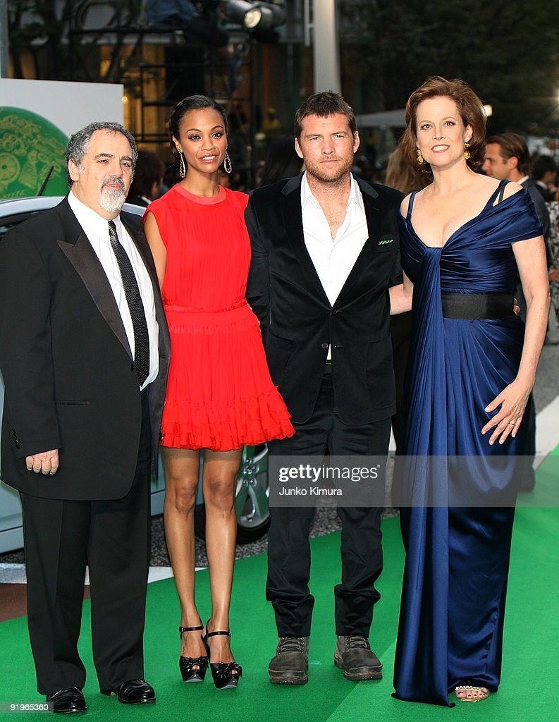 Actress Sigourney Weaver (R), actor Sam Worthington (2R) and Zoe Saldana (2L) walk on the green carpet during the 22nd Tokyo International Film Festival Opening Ceremony at Roppongi Hills on October 17, 2009 in Tokyo, Japan. TIFF takes place from October 17 to 25, showing around 270 films during the festival. TIFF consists of 6 categories; Special Screenings, Competition, Winds of Asia-Middle East, Japanese Eye, World Cinema and natural TIFF supported by Toyota.