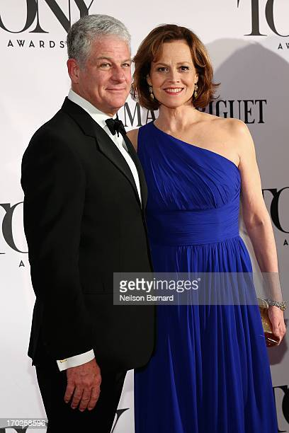 Actress Sigourney Weaver and Director Jim Simpson attends The 67th Annual Tony Awards at Radio City Music Hall on June 9 2013 in New York City