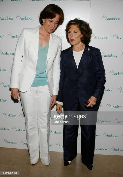 Actress Sigourney Weaver and Teresa Heinz Kerry arrive at the 5th annual national audubon society's at The Plaza Hotel on May 20 2008 in New York City