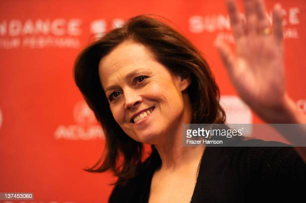 Actress Sigourney Weaver arrives at Red Lights Premiere during the 2012 Sundance Film Festival at Eccles Center Theatre on January 20 2012 in Park...