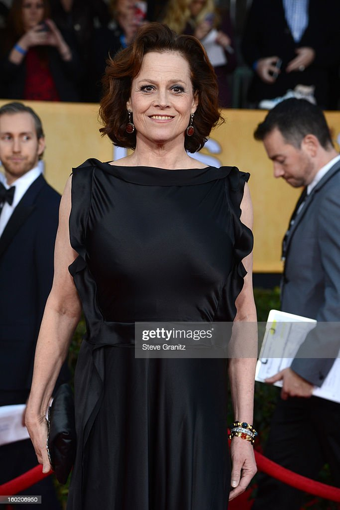 Actress Sigourney Weaver arrives at the 19th Annual Screen Actors Guild Awards held at The Shrine Auditorium on January 27, 2013 in Los Angeles, California.