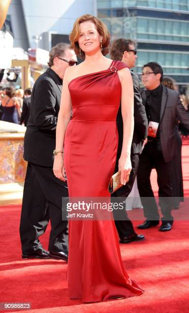 Actress Sigourney Weaver arrives at the 61st Primetime Emmy Awards held at the Nokia Theatre on September 20 2009 in Los Angeles California