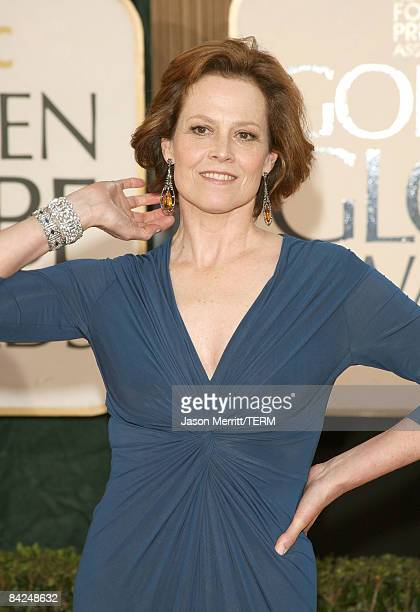 Actress Sigourney Weaver arrives at the 66th Annual Golden Globe Awards held at the Beverly Hilton Hotel on January 11 2009 in Beverly Hills...