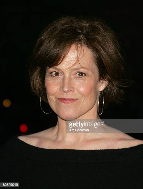 Actress Sigourney Weaver arrives at the 7th Annual Tribeca Film Festival Vanity Fair Party at the State Supreme Courthouse on April 22 2008 in New...
