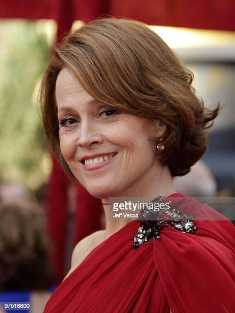 Actress Sigourney Weaver arrives at the 82nd Annual Academy Awards held at the Kodak Theatre on March 7, 2010 in Hollywood, California.