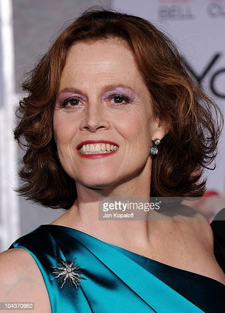 Actress Sigourney Weaver arrives at the Los Angeles Premiere 'You Again' at the El Capitan Theatre on September 22 2010 in Hollywood California