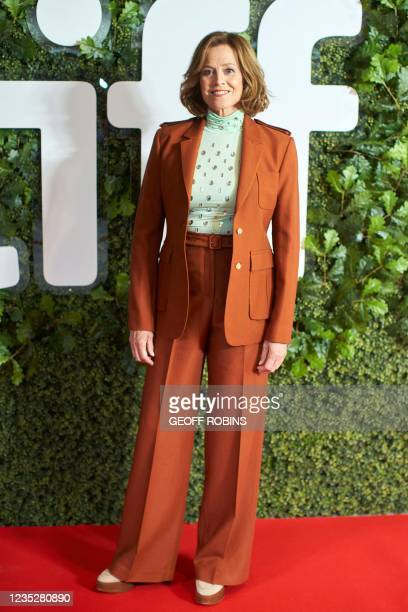 """Actress Sigourney Weaver arrives for the premiere of """"The Good House"""" at the Toronto International Film Festival in Toronto, Ontario, September 15,..."""