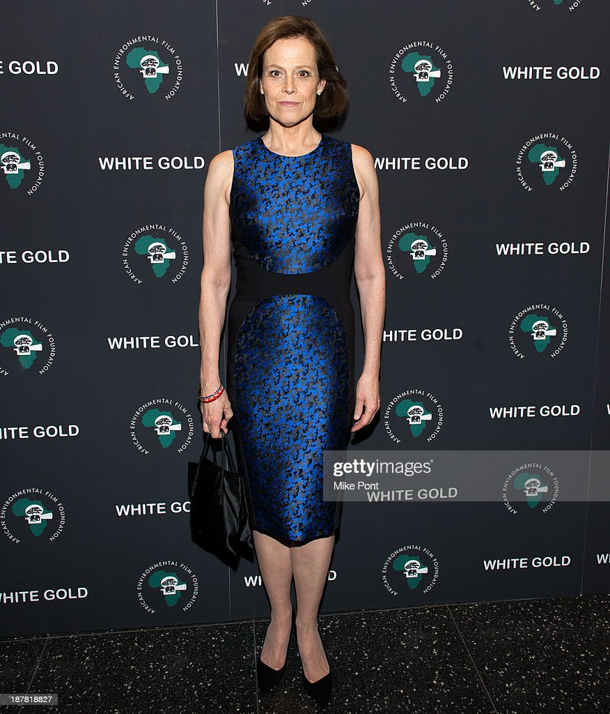 Actress Sigourney Weaver attends a special screening of 'White Gold' at the Museum of Modern Art on November 12, 2013 in New York City.
