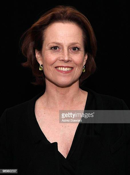 Actress Sigourney Weaver attends New Audience's gala to celebrate Shakespeare's 446th birthday at American Museum of Natural History on May 10, 2010...