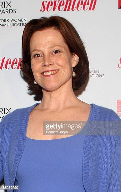 Actress Sigourney Weaver attends the 2009 Matrix Awards at the Waldorf=Astoria on April 27 2009 in New York City