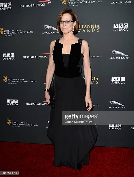 Actress Sigourney Weaver attends the 2013 BAFTA LA Jaguar Britannia Awards presented by BBC America at The Beverly Hilton Hotel on November 9, 2013...