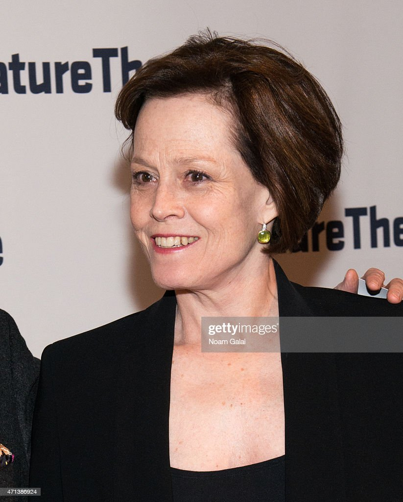 Actress Sigourney Weaver attends the 2015 Signature Theatre Gala at The Signature Center on April 27, 2015 in New York City.