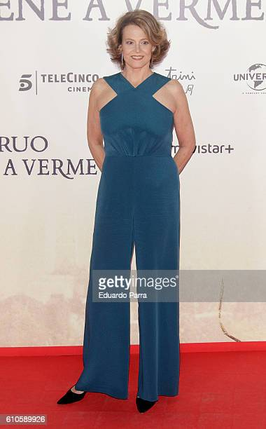 Actress Sigourney Weaver attends the 'A Monster Calls' photocall at Royal Theatre on September 26 2016 in Madrid Spain