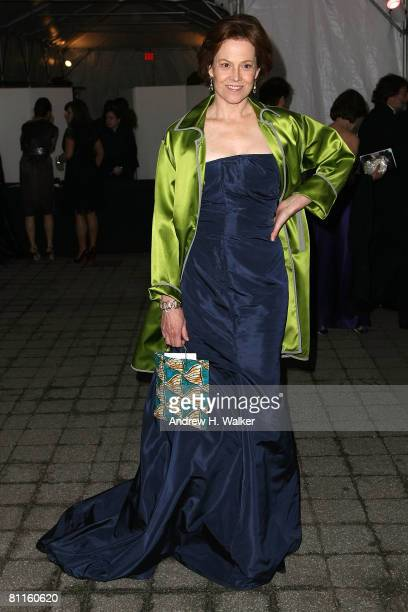 Actress Sigourney Weaver attends the American Ballet Theatre's 68th Annual Spring Gala reception at the Metropolitan Opera House on May 19 2008 in...