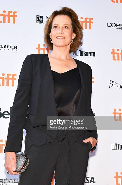 Actress Sigourney Weaver attends the Assignment premiere during 2016 Toronto International Film Festival at Ryerson Theatre on September 14 2016 in...