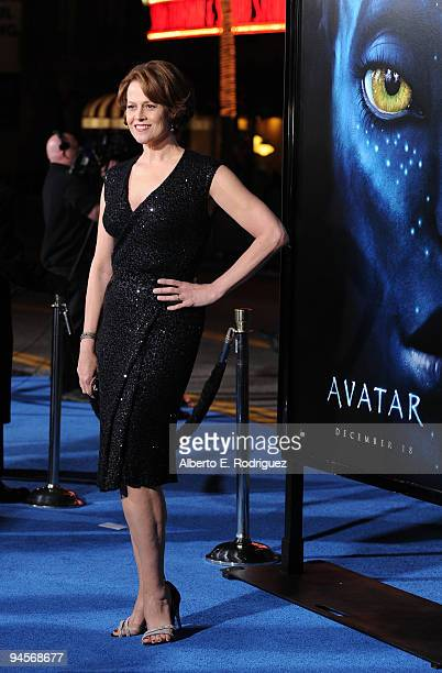 Actress Sigourney Weaver attends the 'Avatar' Los Angeles premiere at Grauman's Chinese Theatre on December 16 2009 in Hollywood California