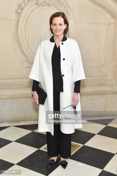 Actress Sigourney Weaver attends the Dior Haute Couture Spring/Summer 2020 show as part of Paris Fashion Week on January 20, 2020 in Paris, France.