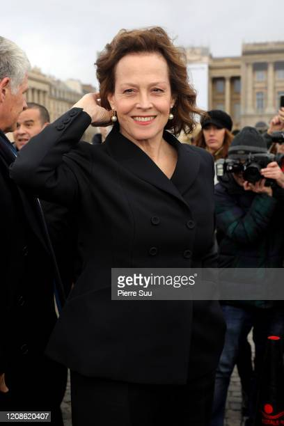 Actress Sigourney Weaver attends the Dior show as part of the Paris Fashion Week Womenswear Fall/Winter 2020/2021 on February 25 2020 in Paris France