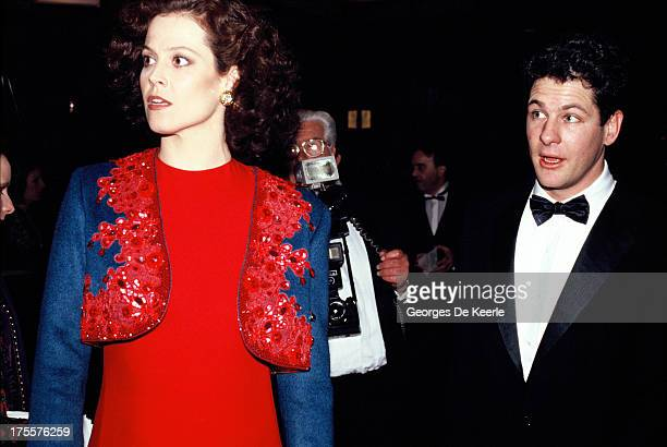Actress Sigourney Weaver attends the 'Gorillas in the Mist' premiere on January 24 1989 in London England