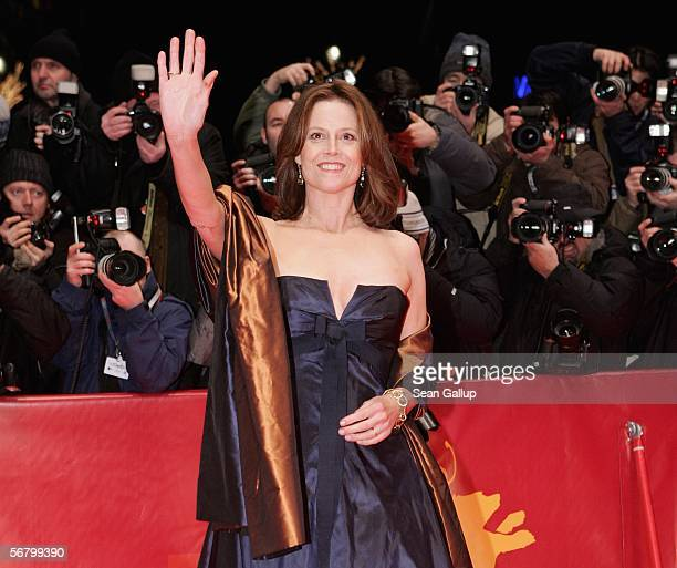 Actress Sigourney Weaver attends the Opening Night of the 56th Berlin International Film Festival on February 9, 2006 in Berlin, Germany.